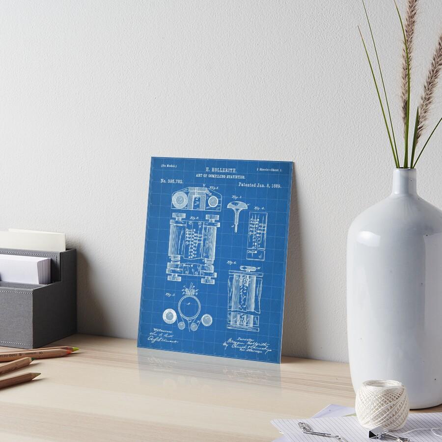 First Computer Patent - Technology Art - Blueprint Art Board Print