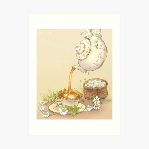 Chamomile Tea Art Print