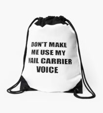 Mail Carrier Gift for Coworkers Funny Present Idea Drawstring Bag