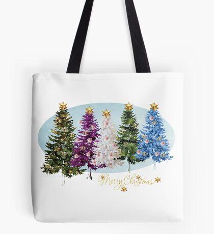 Christmas trees (986 Views) Tote Bag
