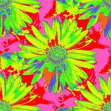 Gerbera Daisy - Neon by NeonPink