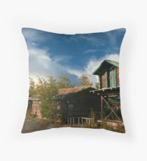 Northern village Throw Pillow