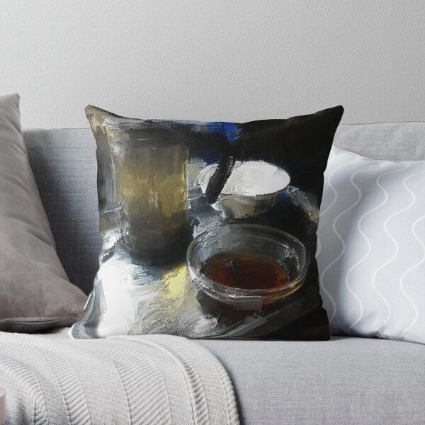 tea and plum jam Throw Pillow