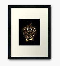Dog pet golden Gold Framed Print