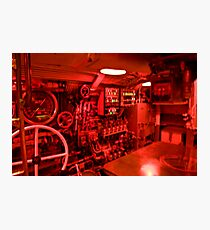 Control room of a WWII era submarine  Photographic Print