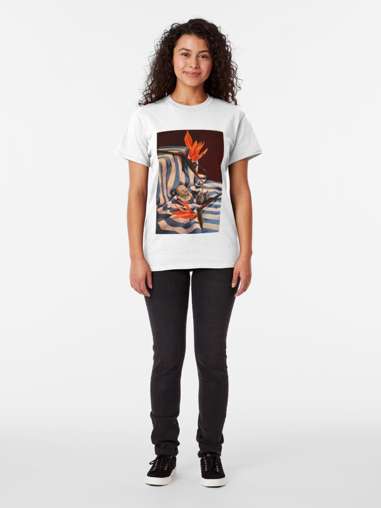 Alternate view of Orange Flowers and Blue Cloth Classic T-Shirt
