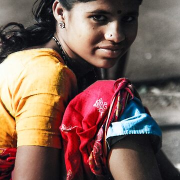 Young Woman in rural India by indiafrank