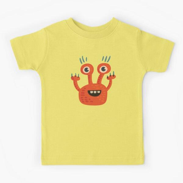 Cute Orange Monster Is Funny Too Kids T-Shirt