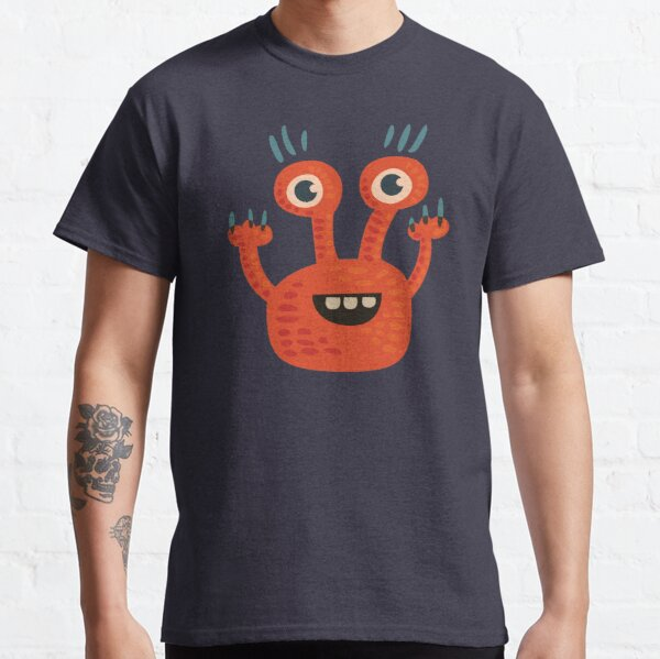 Cute Orange Monster Is Funny Too Classic T-Shirt