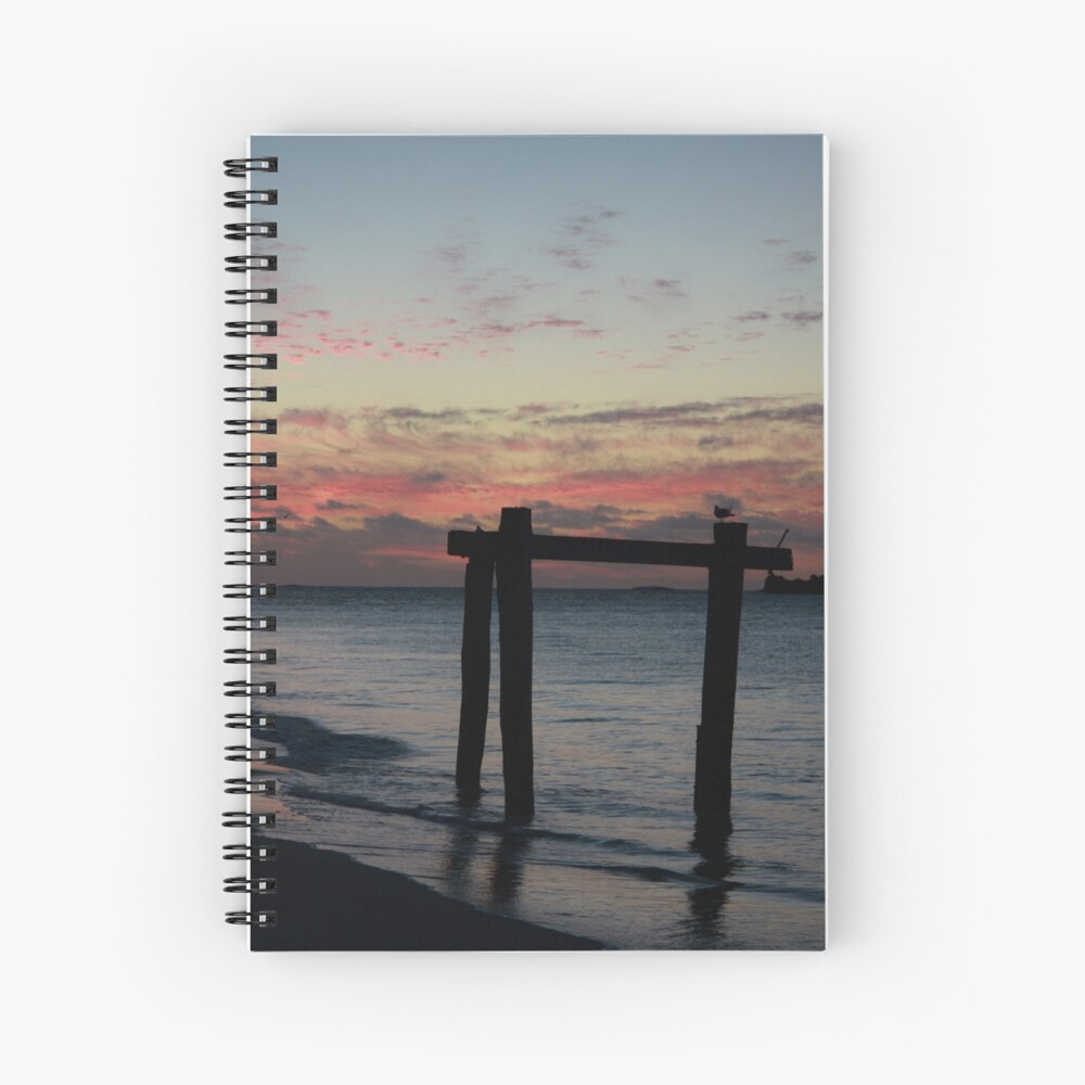 Hamelin Bay Sunset Spiral Notebook