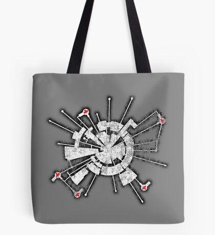 Alpha Moon Base Grunge Back Tote Bag