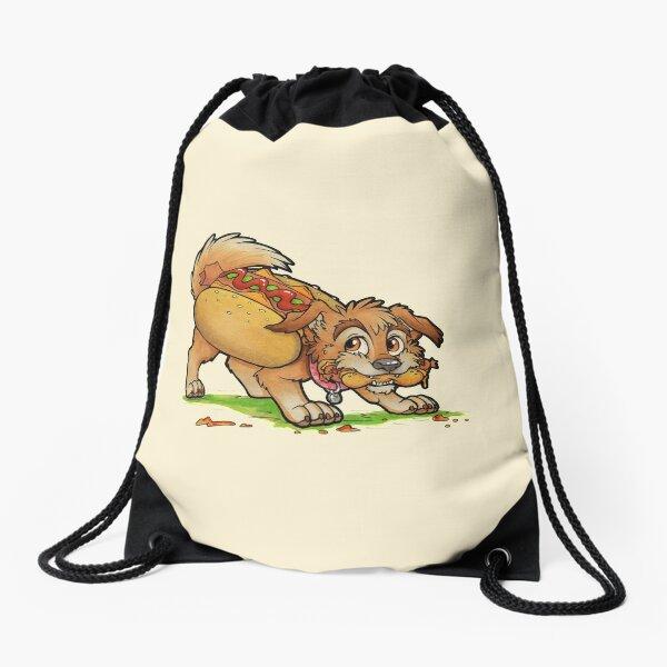 Hot Dog! Drawstring Bag