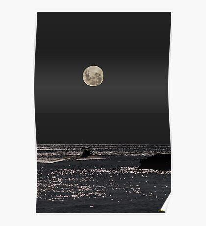 Night Boat Ride Poster
