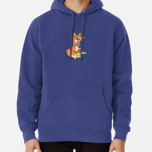 Little Fox and Cockatiel Pullover Hoodie
