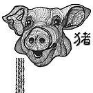 Zodiac Pig Year lucky 2019  by PeLari