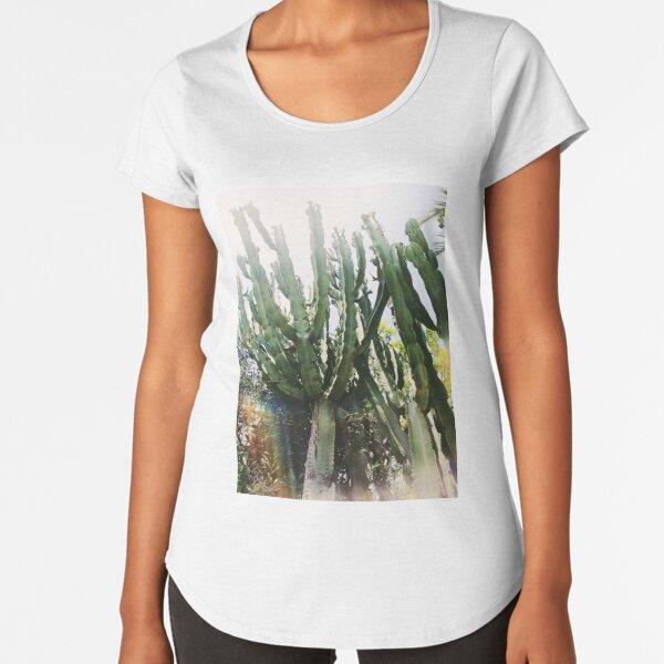 Cacti Desert Photography Premium Scoop T-Shirt