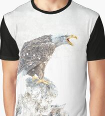 Bald eagle in snowstorm Graphic T-Shirt