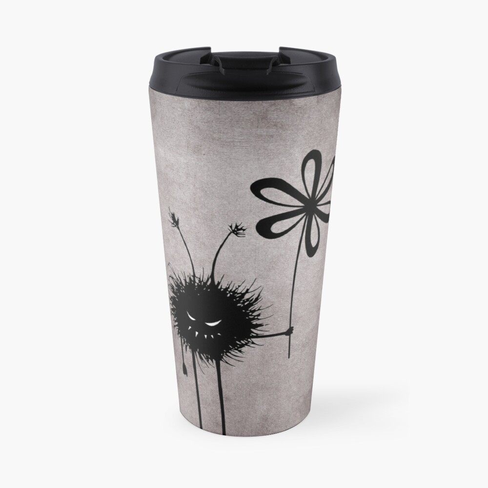 Evil Flower Bug Vintage Travel Mug