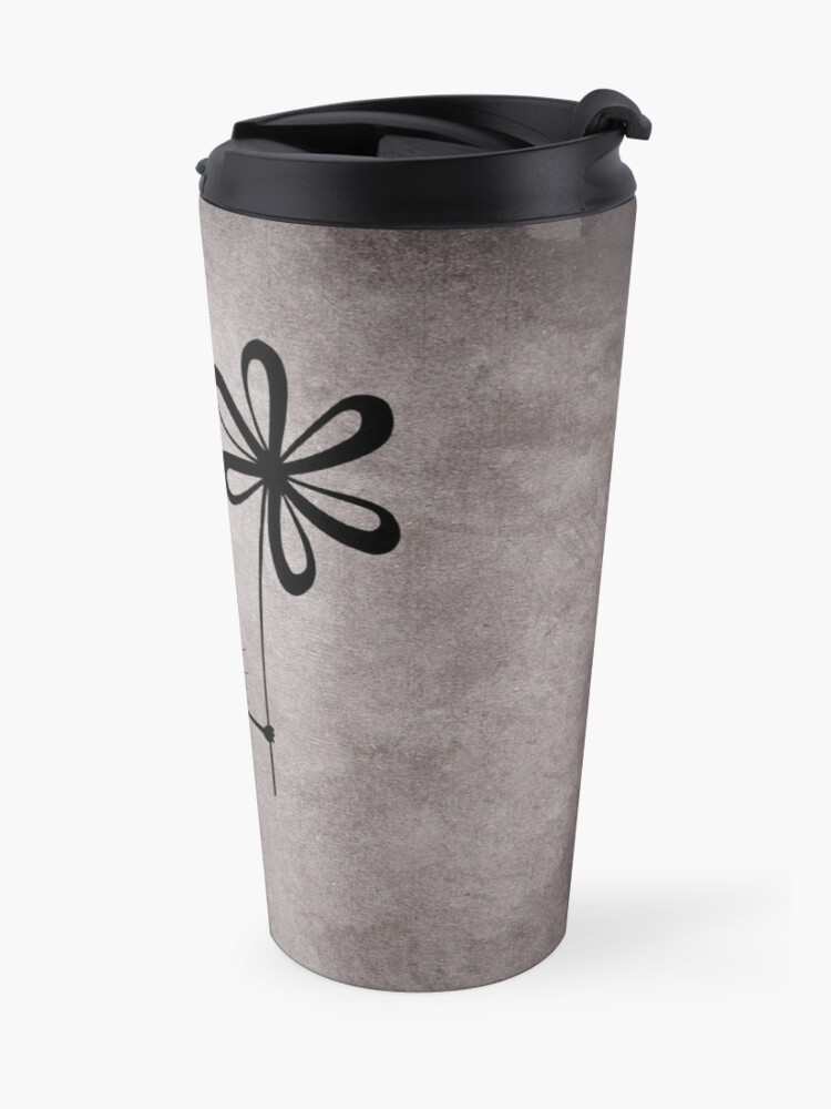 Alternate view of Evil Flower Bug Vintage Travel Mug