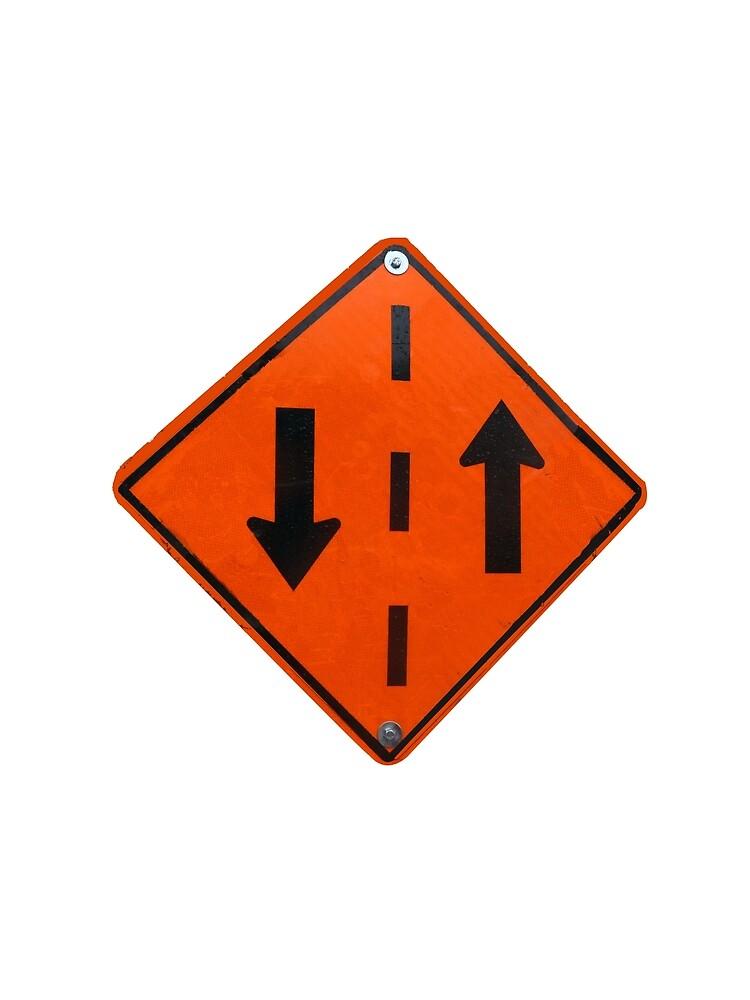 «Panneau circulation dans les deux sens» par martinb1962