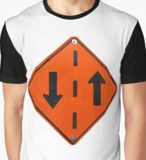 Traffic sign in both directions Graphic T-Shirt