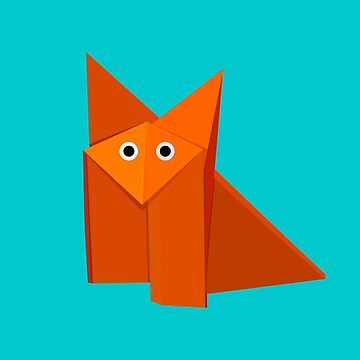 Cute Origami Fox by azzza