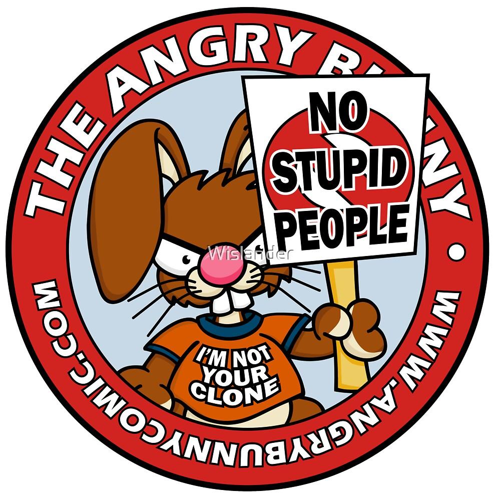 No Stupid People Logo by Wislander