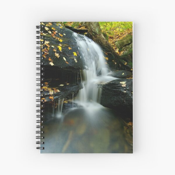 A Small Falls in Autumn Spiral Notebook