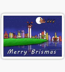 Merry Brismas - Brisbane Christmas Sticker