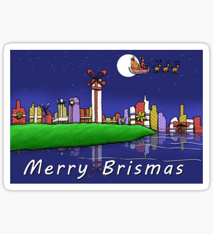 Merry Brismas - Brisbane Christmas Sticker