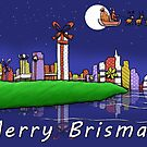 Merry Brismas - Brisbane Christmas by eddcross
