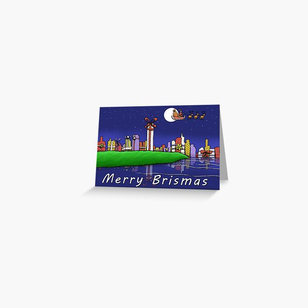 Merry Brismas - Brisbane Christmas Greeting Card