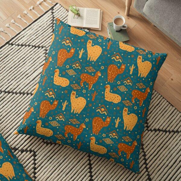 Lovely Alpacas Floor Pillow