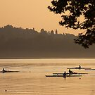 Lake Varese rowers by Neil Buchan-Grant