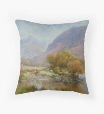 Borrowdale 2, Cumbria, England Throw Pillow