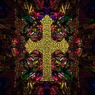 Stained Glass Cross  by MidnightRain