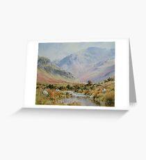 Newlands Valley, Cumbria, England Greeting Card