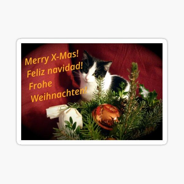 Katze Lilli mag Weihnachten - Merry XMas! Sticker