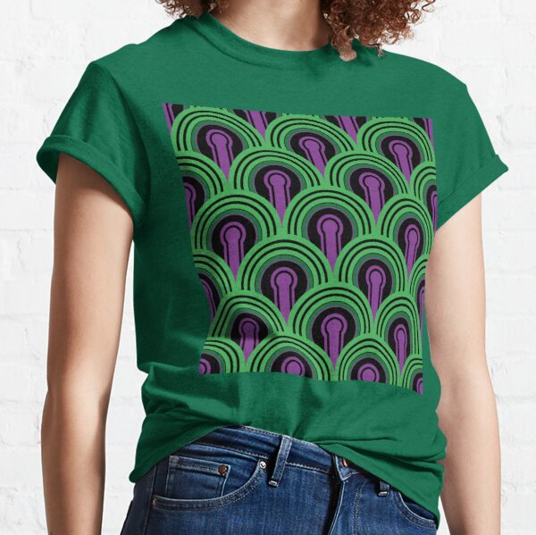 Overlook Hotel Carpet from The Shining: Purple/Green Classic T-Shirt