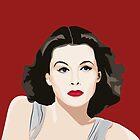 Hedy Lamarr portrait by Yellow-Studio