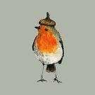 Robin with acorn hat by Carmen de Bruijn