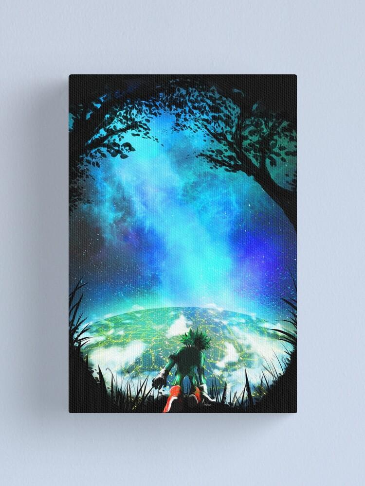 My Hero Academia inspired Izuku Midoriya Original Painting   Canvas Print