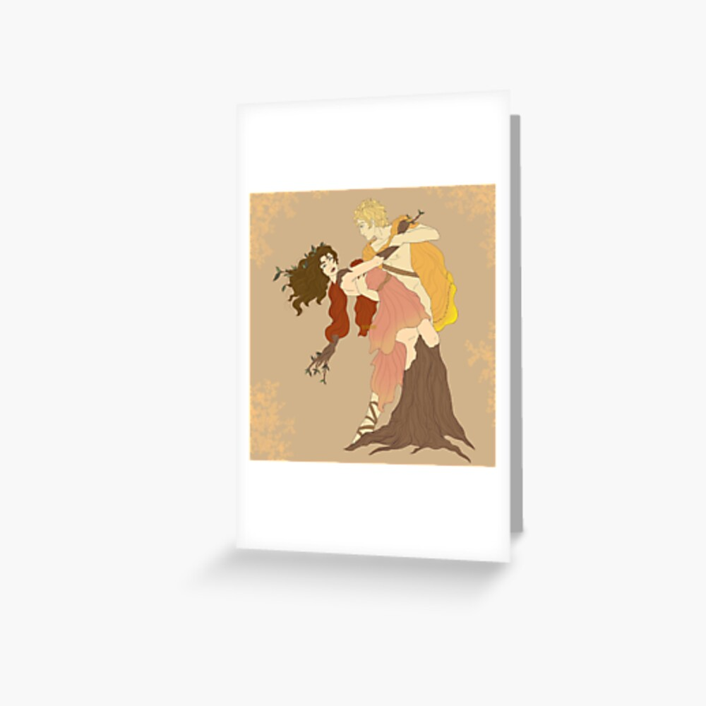 """""""apollo and daphne"""" greeting cardsam18  redbubble"""