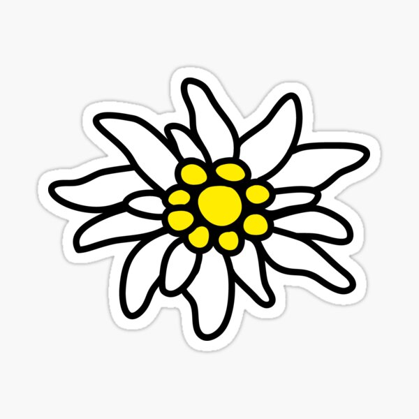 Edelweiss Edelweiß Blume Bergblume Oktoberfest Sticker