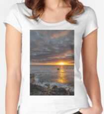 Sunset at sea Women's Fitted Scoop T-Shirt