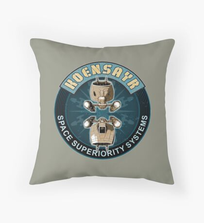 Koensayr Space Superiority Fighter - Back Throw Pillow