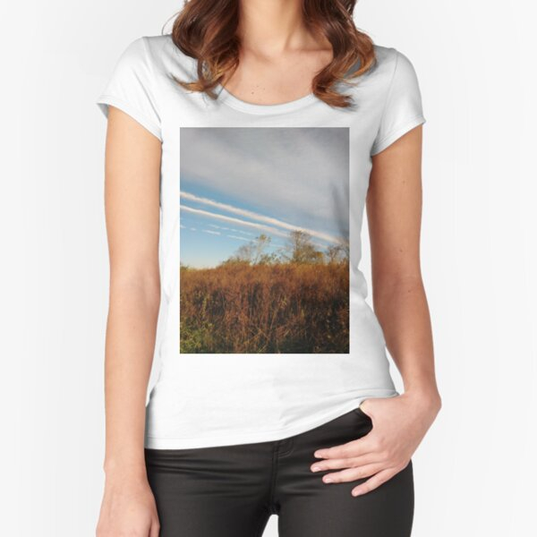 Autumn, Calvert Vaux Park, New York City, Brooklyn #Autumn #CalvertVauxPark, #NewYorkCity, #Brooklyn, Bay 44th St. &, Hunter Ave, Brooklyn, NY 11214, USA Fitted Scoop T-Shirt
