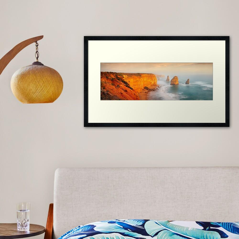 Golden Light Twelve Apostles, Victoria, Australia Framed Art Print