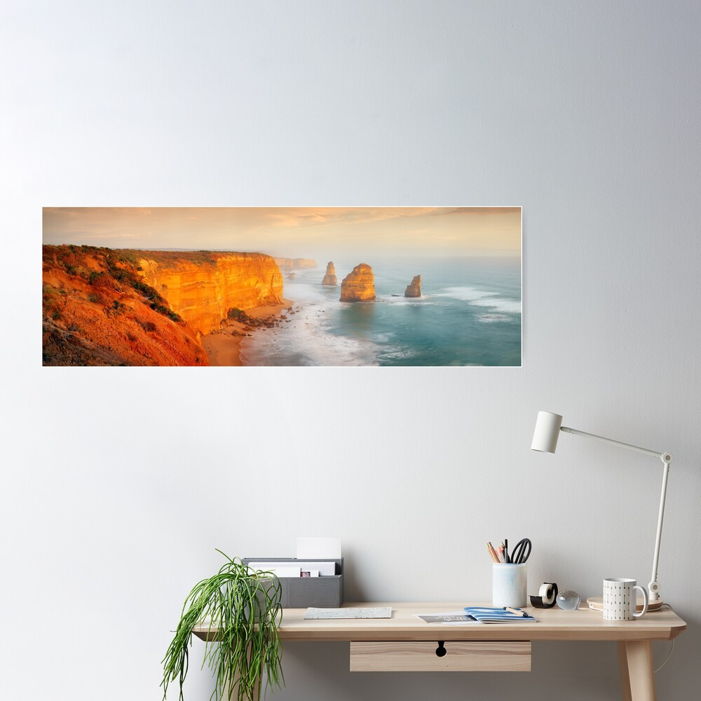 Golden Light Twelve Apostles, Victoria, Australia Poster