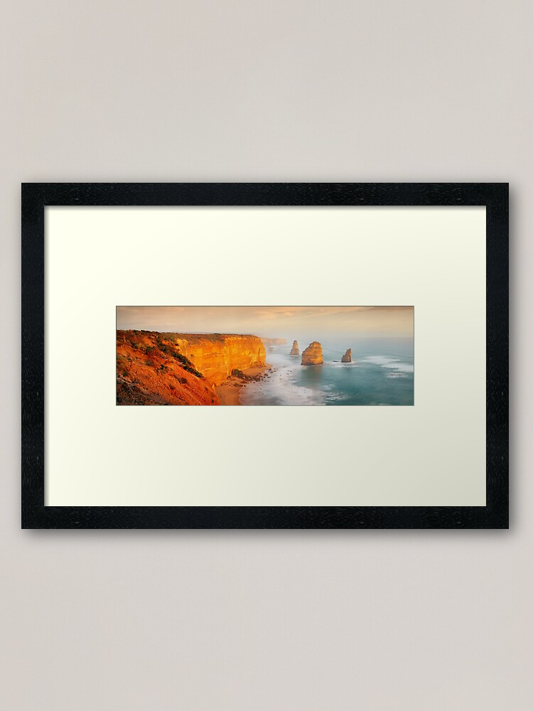 Alternate view of Golden Light Twelve Apostles, Victoria, Australia Framed Art Print